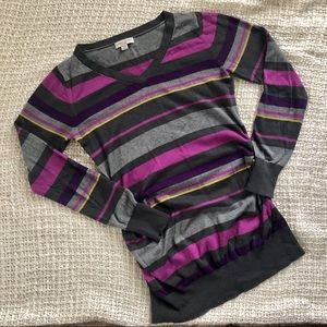 Maternity lightweight striped sweater